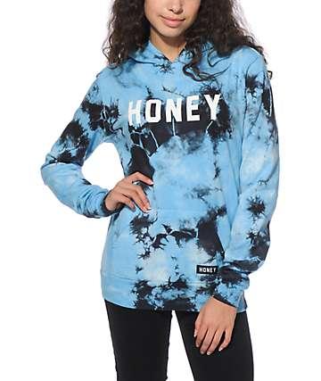 Honey Brand Co. Heat Desire Navy Tie Dye Hoodie