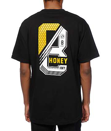 Honey Brand Co. Stack Black T-Shirt
