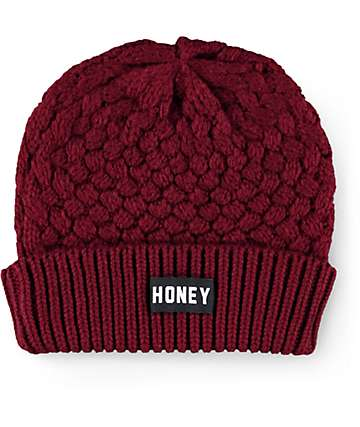 Honey Brand Co. Trap Burgundy Beanie