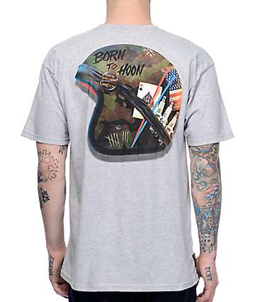 Hoonigan Alpha Helmet Grey T-Shirt