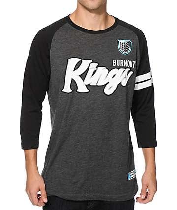Hoonigan Burnout Kings Baseball T-Shirt