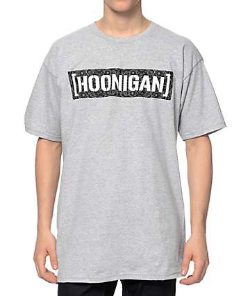 Hoonigan C Bar Bandana Grey T-Shirt