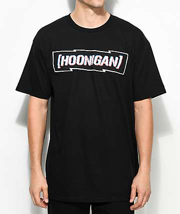 Hoonigan Censor Bar Black T-Shirt