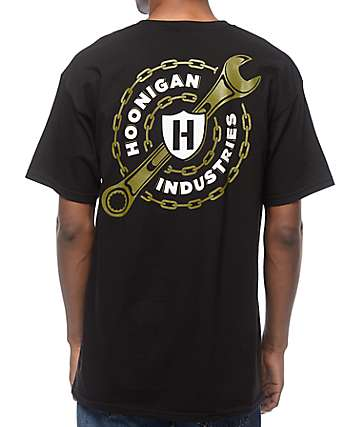 Hoonigan Chain Gang Black T-Shirt