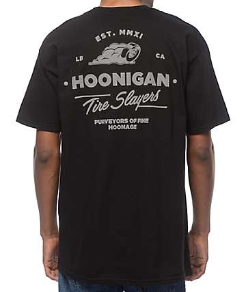 Hoonigan Cheater Slicks Black T-Shirt