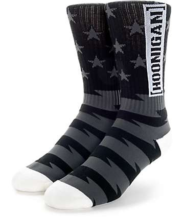 Hoonigan Gymkhana 8 Black Crew Socks