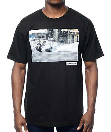 Hoonigan Gymkhana 8 Photo Black T-Shirt