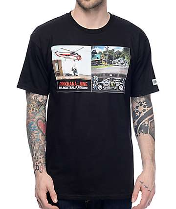 Hoonigan Gymkhana 9 Photo Black T-Shirt