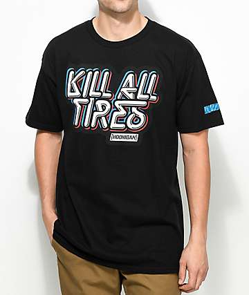 Hoonigan Kill All Tires camiseta negra