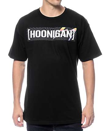 Hoonigan Pantone Censor Bar Black T-Shirt