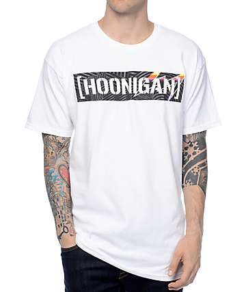 Hoonigan Pantone Censor Bar White T-Shirt