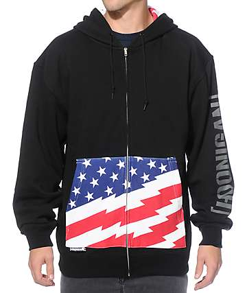 Hoonigan Stars & Stripes Zip Up Hoodie