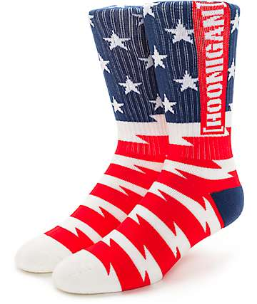 Hoonigan Stars And Stripes Crew Socks
