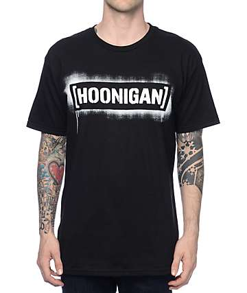 Hoonigan Stencil Black T-Shirt
