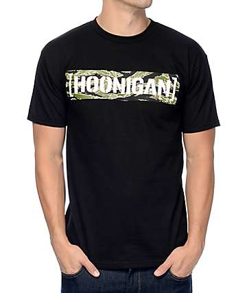 Hoonigan Tiger Censor Bar Black T-Shirt