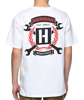 Hoonigan Winner Circle White T-Shirt