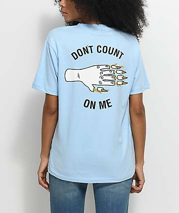Hot Lava x Zumiez Don't Count On Me Light Blue T-Shirt