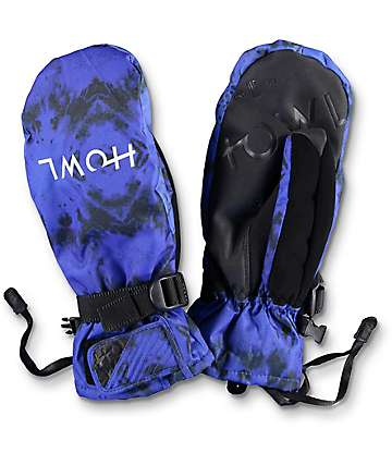 Howl Fairbanks Blue Snowboard Mittens
