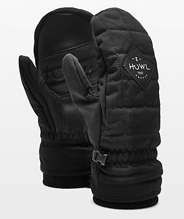 Howl Jed Black Snowboard Mittens