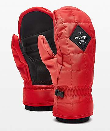Howl Jed Red Snowboard Mittens
