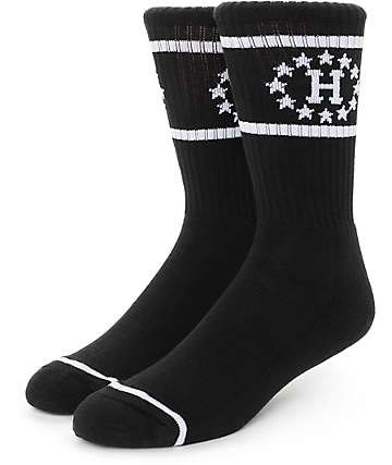 Huf 12 Galaxies Black Socks