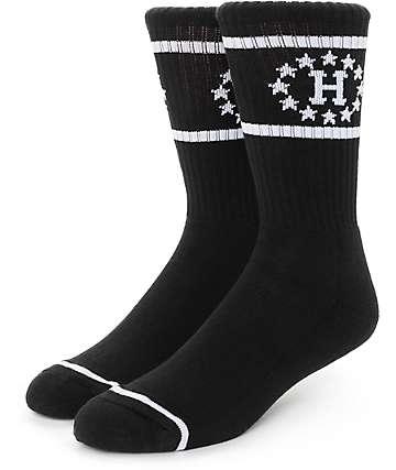 Huf 12 Galaxies Black Socks