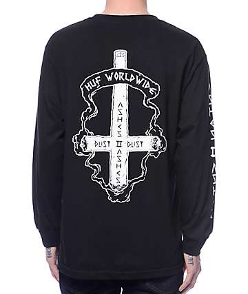 Huf Ashes To Ashes Black Long Sleeve T-Shirt