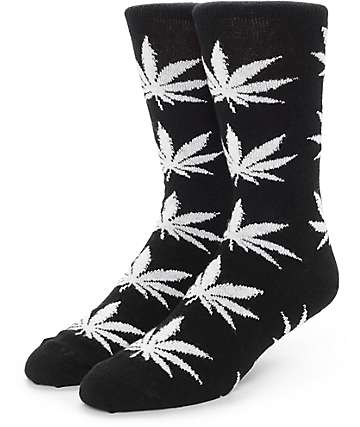Huf Cashmere Plantlife Black & Natural Crew Socks