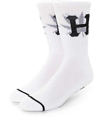 Huf H Town White Crew Socks