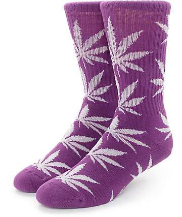 Huf Purple Glow Plantlife Crew Socks