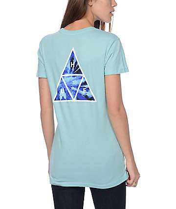 Huf Tie Dye Blue Triangle T-Shirt