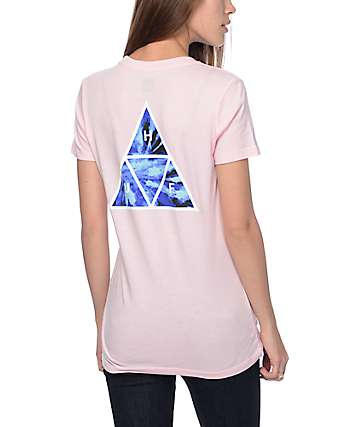Huf Tie Dye Pink Triangle T-Shirt