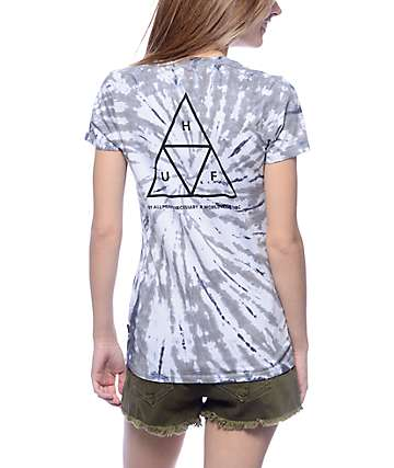 Huf Triangle Grey Tie Dye T-Shirt