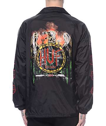 Huf Vulture Black Coach Jacket