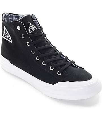 Huf X Obey Classic Hi Black & White Skate Shoes