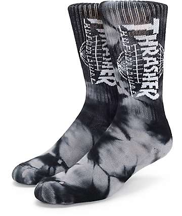 Huf x Thrasher TDS Wash Crew Socks