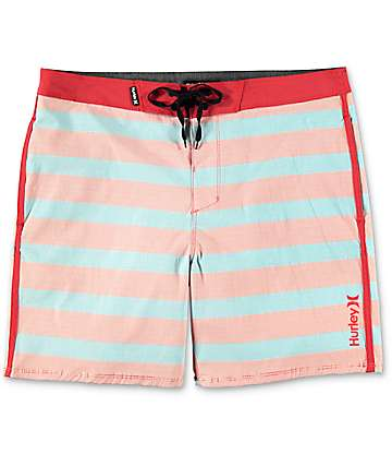 Hurley Beachside Windsor board shorts en rojo y azul