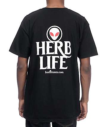 Hustle Trees Alien Herb Life Black T-Shirt