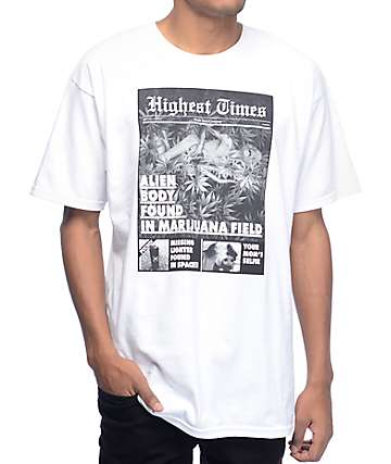 Hustle Trees Tabloid White T-Shirt