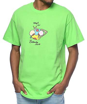 Illegal Civilization Billiards Club Lime T-Shirt