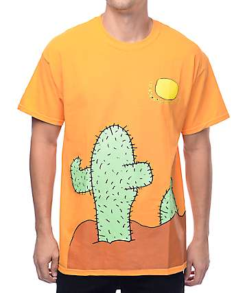 Illegal Civilization Cactus Orange T-Shirt