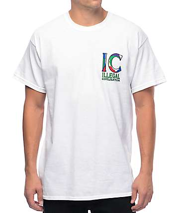 Illegal Civilization IC Classic White T-Shirt