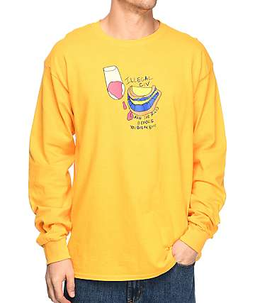 Illegal Civilization Learn The Rules Yellow Long Sleeve T-Shirt
