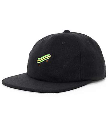 Illegal Civilization Sk8 Black Strapback Hat