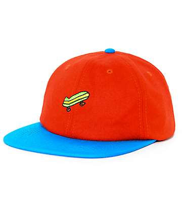 Illegal Civilization Sk8 Orange & Blue Strapback Hat