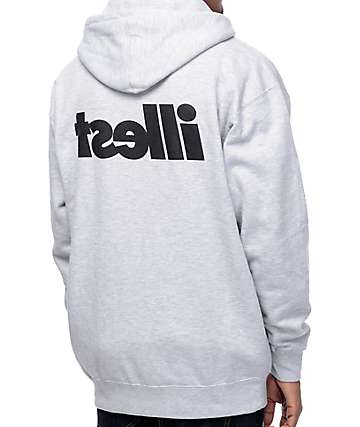 Illest Bold Heather Grey Zip Up Hoodie