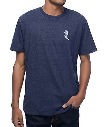 Imaginary Foundation Astro Surfer Navy T-Shirt
