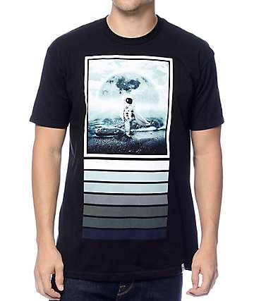 Imaginary Foundation Moon Surfer Black T-Shirt
