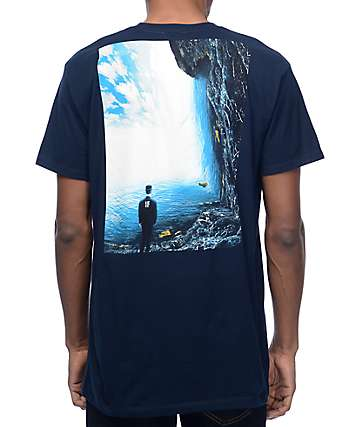 Imaginary Foundation Shape Reality Navy T-Shirt