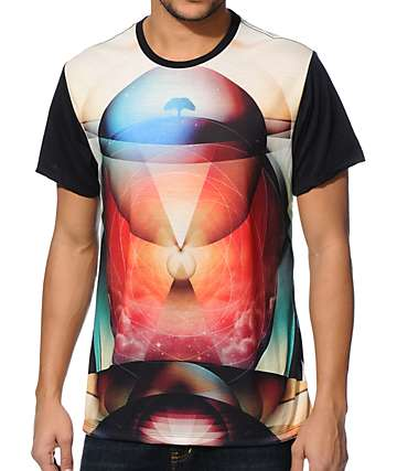 Imaginary Foundation Totem Panel Black Sublimation T-Shirt